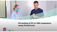 PortaCount Fit testing of P2 or N95
