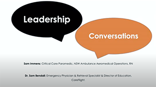 Sam Bendall Leadership conversations