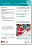 A General Guide to Blood Transfusion: Information for Patients and Families